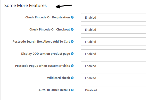 Pincode features