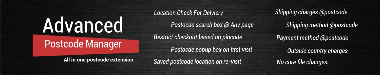 Advanced Postcode Manager