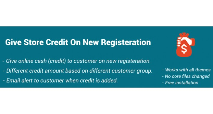 Get Store Credit On Registeration