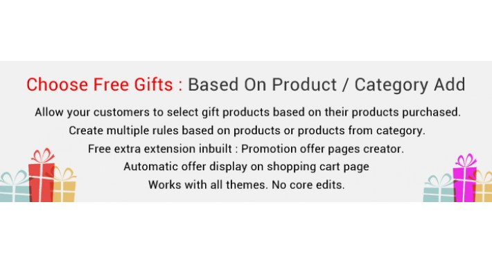 Free Gift Products Based On Product / Category Added