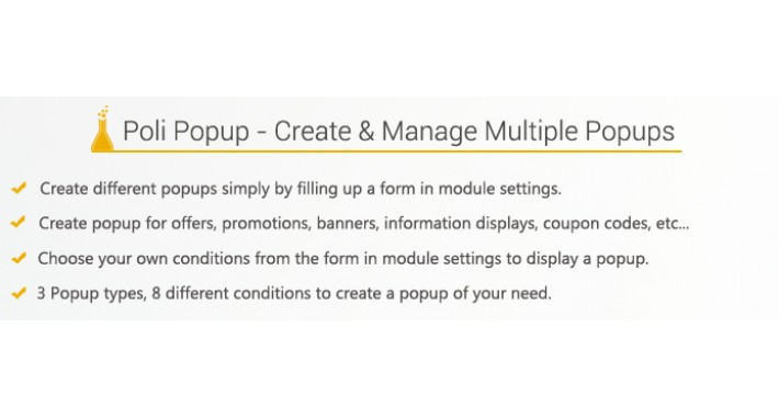Poli Popup - Multiple Features