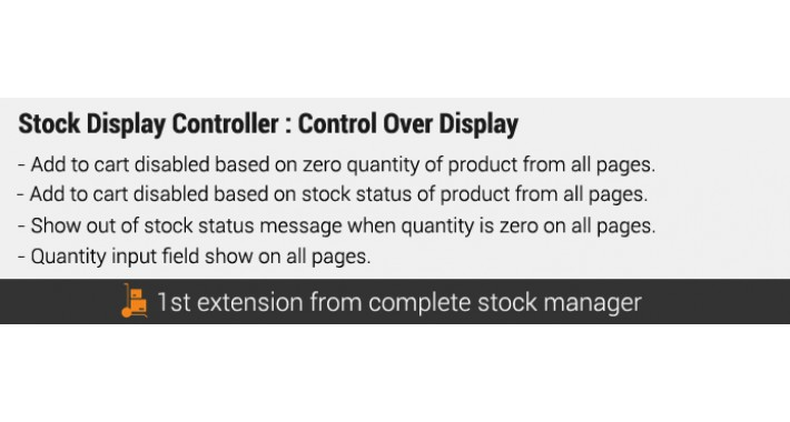 Stock Display Controller : 4 features pack :  Control Over Stock Display