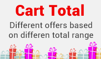 Cart Total : Different Range Different Offers