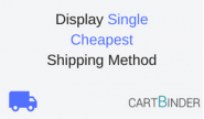 Display single cheapest shipping method