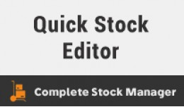 Quick Stock Editor : Products and Options