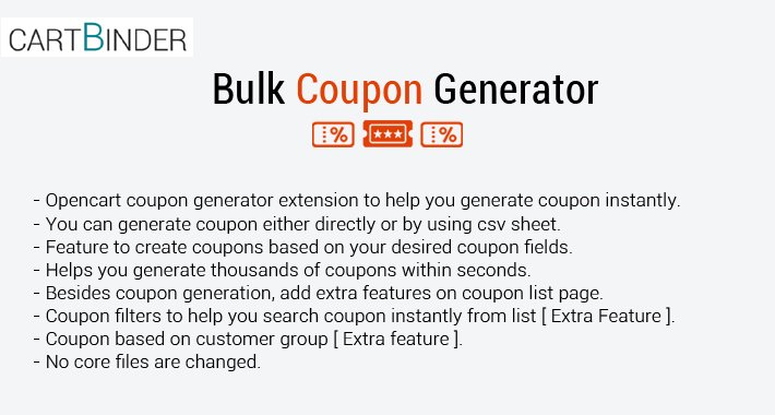 Bulk Coupon Import ( Automatic & Csv Sheet )