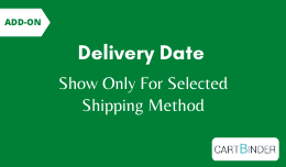 Add-On Delivery Date : Show Date For Selected Shipping Method