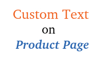 Custom text on product pages : Add extra information