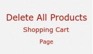 Delete all products - shopping cart page