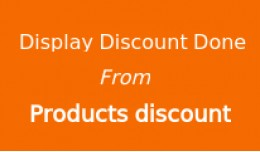 Display total discount done by products discount pack
