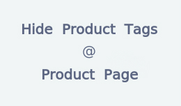 Remove / Hide tags from product page