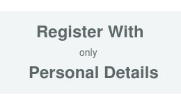 Register with only personal details on account page