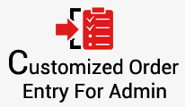 Customized One Page Order Entry System For Admin