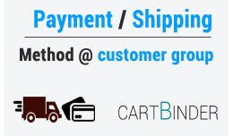 Payment and shipping methods based on customer group