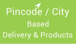 Pincode / city based products and delivery charges