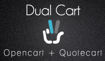 Dual Cart - Opencart + Quotation