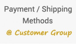 Payment and shipping methods @ customer group