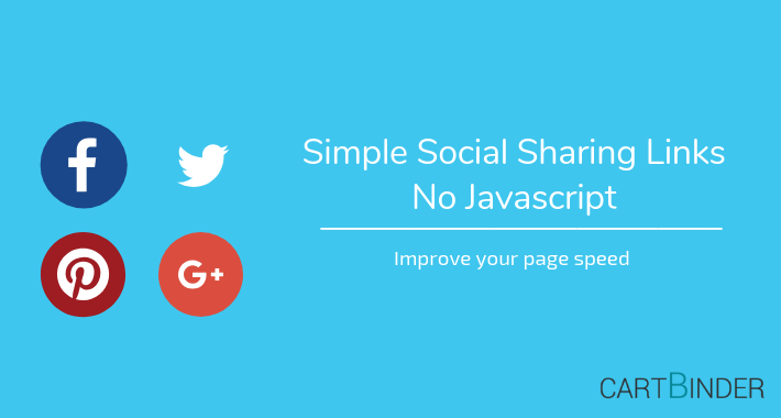 Simple Social Product Sharing : No External Javascript