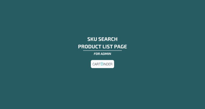 Sku filter on the product list for Admin